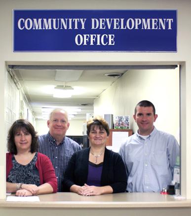 Standing, left to right: Sue Kline, Daniel Eslinger, Shelley Grim, Matt Hafer