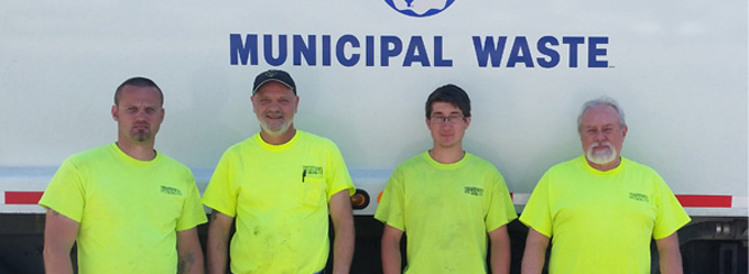 Refuse and Recycling Crew, Left to Right: Kirk Hoffman, Rick Bailey, Kyle Hess and Rick Geisinger