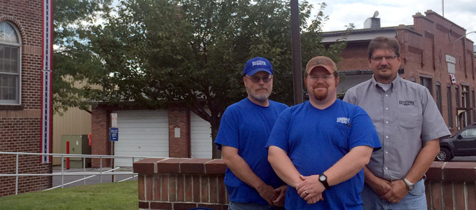 Telecommunications Department, left to right: Ron Stoudt, Brian Bilger, Mark Arnold